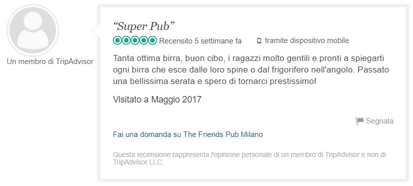 recensione The friends pub