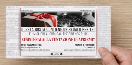 Busta Doppio Natale 2017 Retro - The Friends Pub Milano