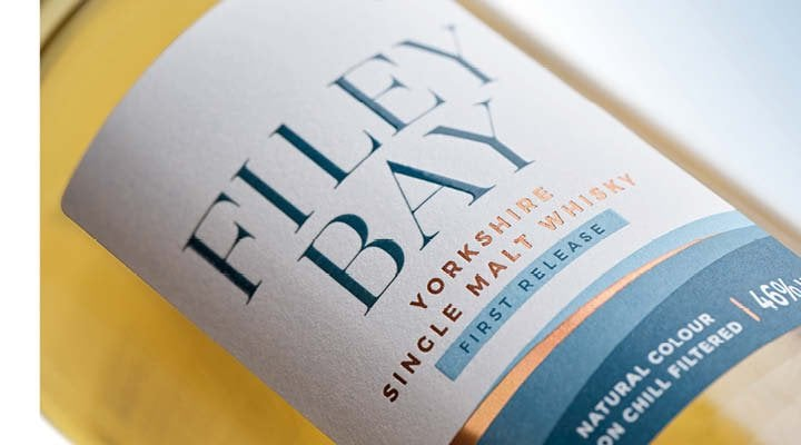 Label - filey bay Whisky