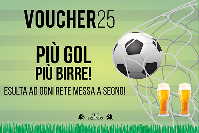 Football voucher - The Friends Pub Milano